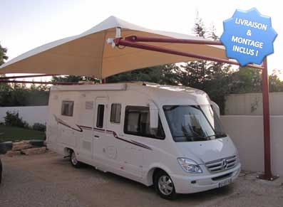 abri camping car et carport un auvent pour prot ger sa caravane promo. Black Bedroom Furniture Sets. Home Design Ideas